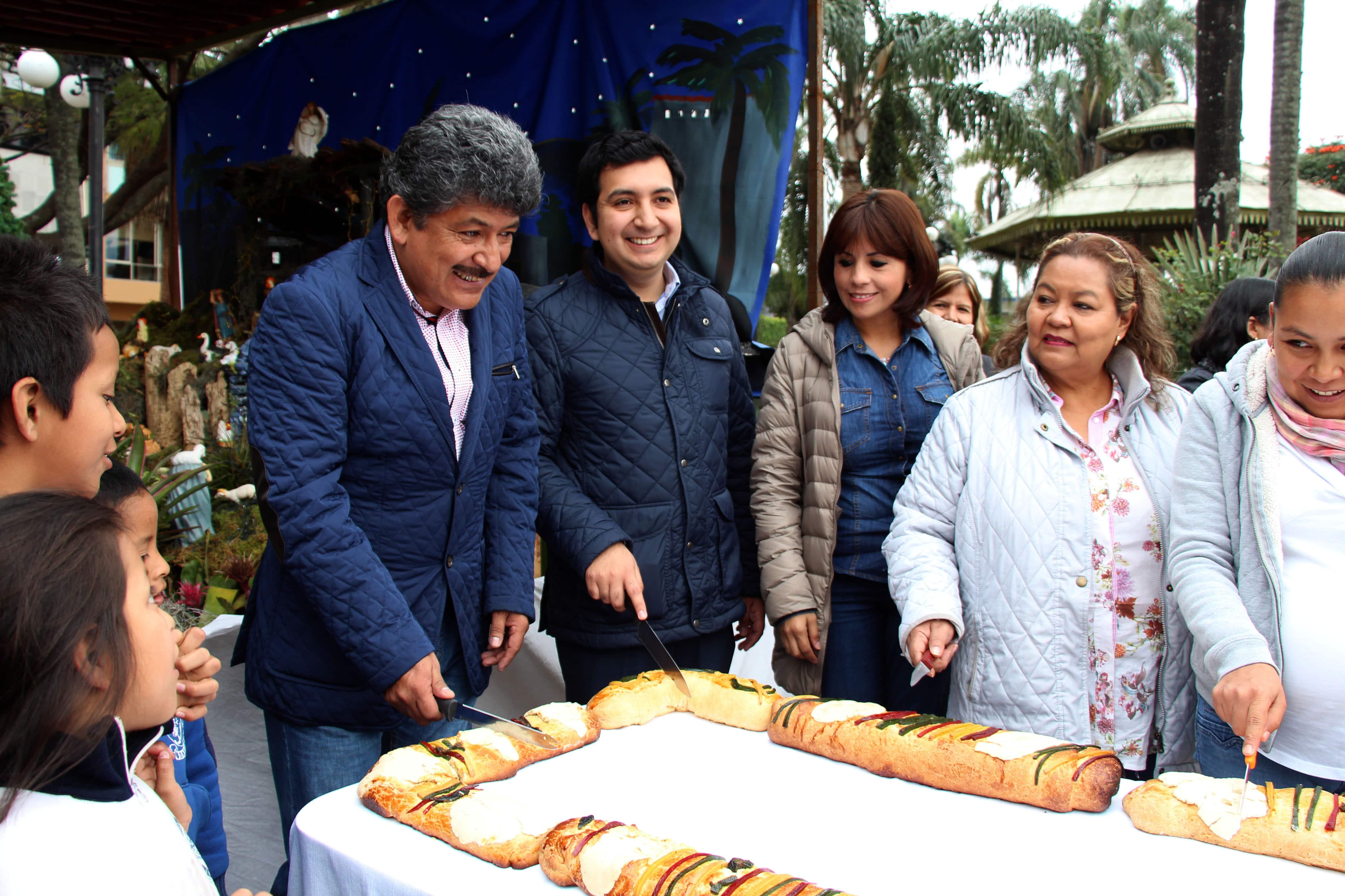 Partido de la rosca en el parque Hidalgo